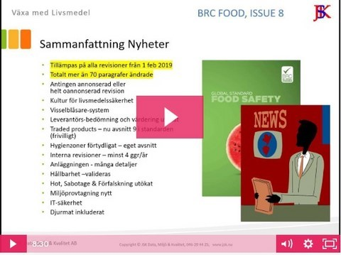 Video Nyheter BRC Food vers. 8